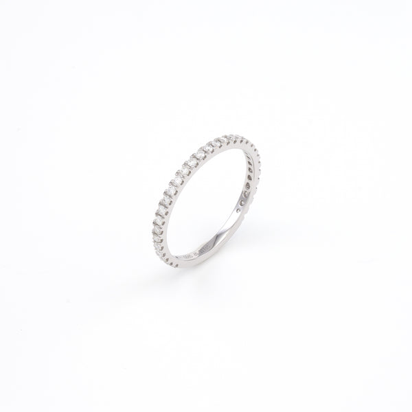 14KT White Gold 0.32CT Round Diamond  Band