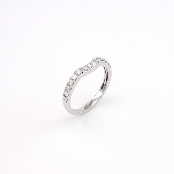 14KT White Gold 0.36CT Round Diamond Band