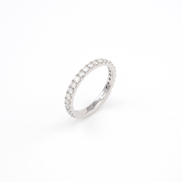 14KT White Gold 0.61CT Round Diamond Band