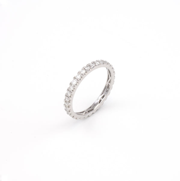 14KT White Gold 0.67CT Round Diamond Eternity Band