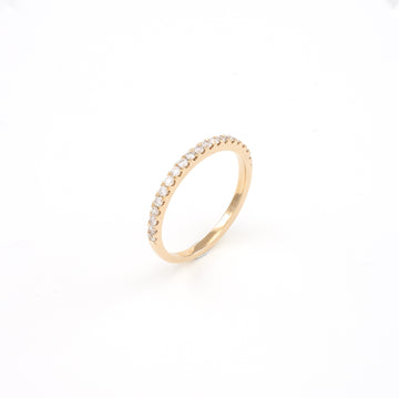 14KT Rose Gold 0.28CT Round Diamond Band