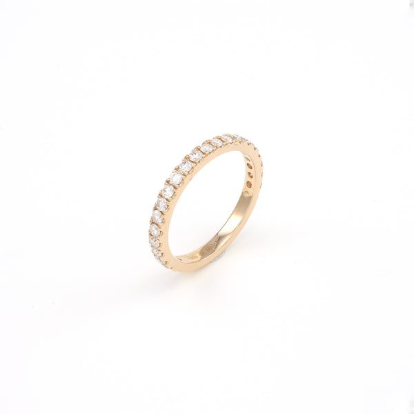 14KT Yellow Gold 0.61CT Round Diamond Band