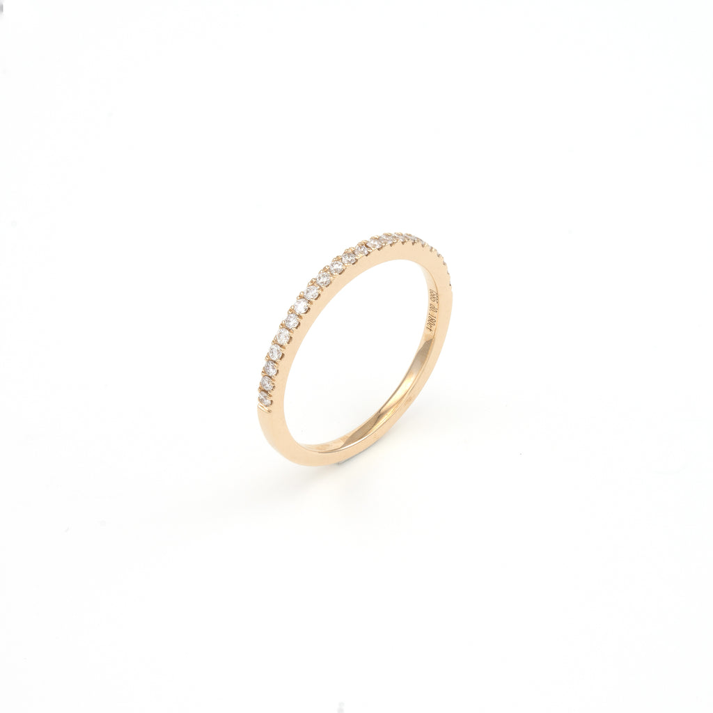 14KT Yellow Gold 0.18CT Round Diamond Band