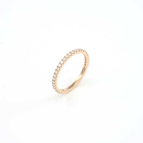 14KT Yellow Gold 0.32CT Round Diamond Band