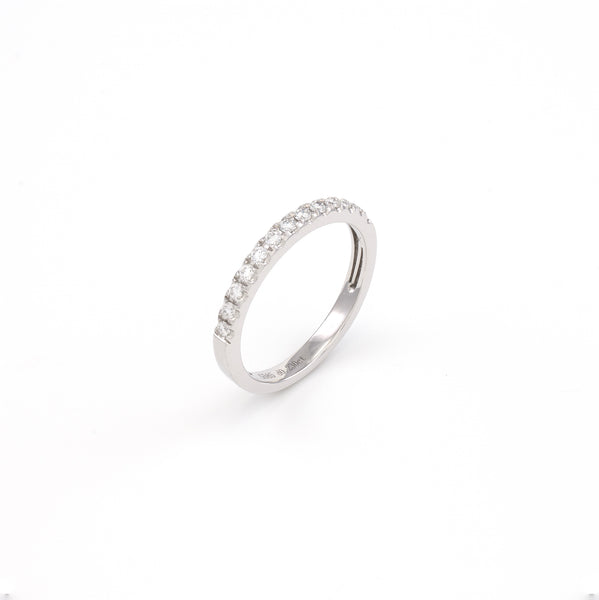 14KT White Gold 0.23CT Round Diamond Band