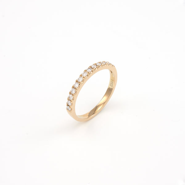 14KT Yellow Gold 0.23CT Round Diamond Band