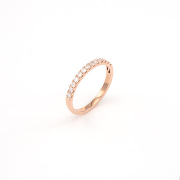 14KT Rose Gold 0.29CT Round Diamond Band