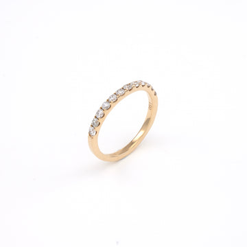 14KT Yellow Gold 0.51CT Round Diamond Band
