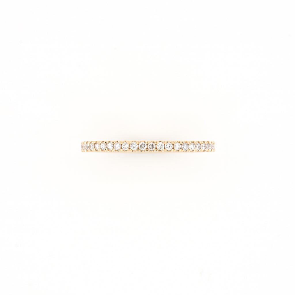 14KT Yellow Gold 0.36CT Round Diamond Eternity Band
