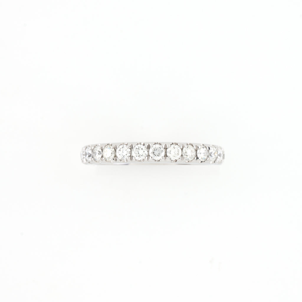 14KT White Gold 0.79CT Round Diamond Band