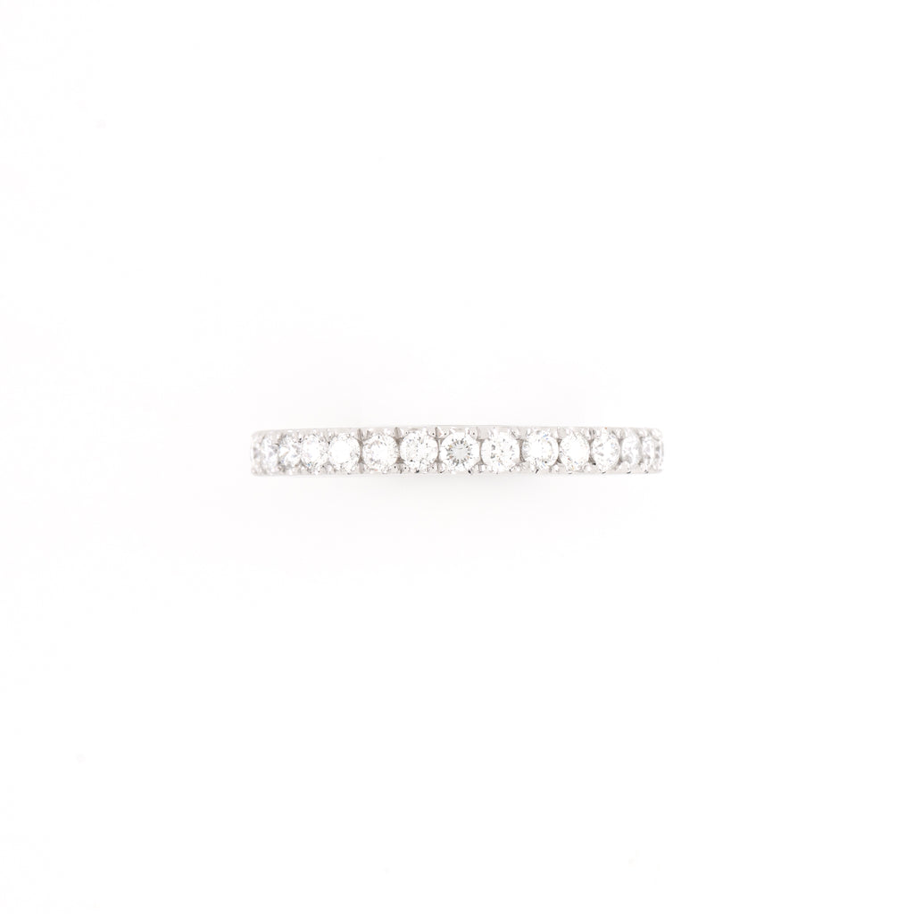 14KT White Gold 0.60CT Round Diamond Band