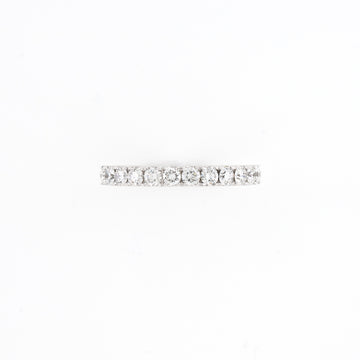 14KT White Gold 0.53CT Round Diamond Band