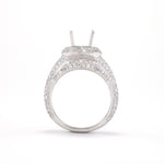 14KT White Gold 1.50CT Round Diamond Semi-Set Engagement Ring