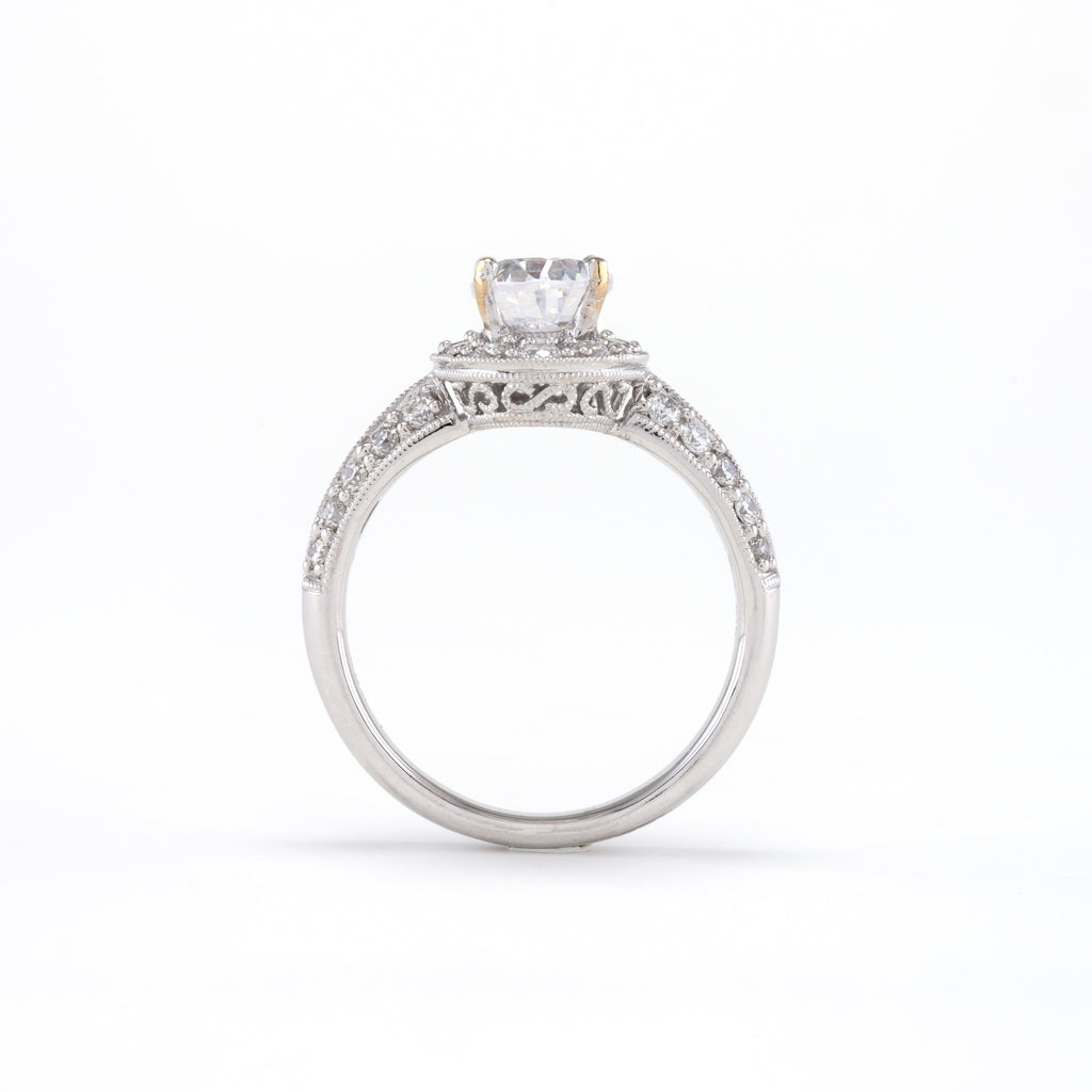 14KT White Gold 0.80CT Semi-Set Engagement Ring