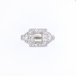 18KT White Gold 1.16CT Round Diamond Semi-Set Engagement Ring