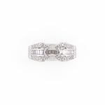 18KT White Gold 0.50CT T/W Diamonds Semi-Set Engagement Ring
