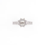 18KT White Gold 0.26CT Round Diamonds Semi-Set Engagement Ring