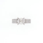 18KT White Gold 0.35CT Round Diamond Semi-Set Engagement Ring