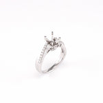14KT White Gold 0.27CT Round Diamond Semi-Set Engagement Ring