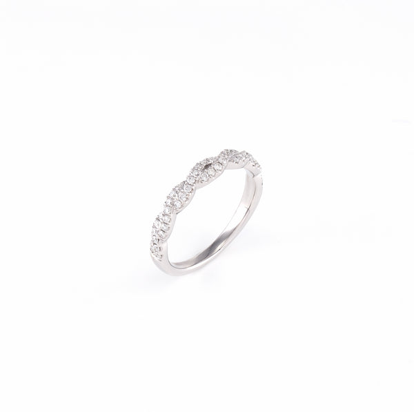 14KT White Gold 0.27CT Round Diamond Band