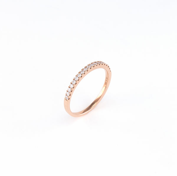 14KT Rose Gold 0.20CT Round Diamond Band