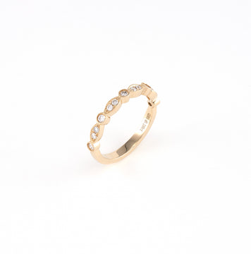 14KT Yellow Gold 0.25CT Round Diamond Band