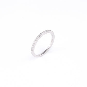 14KT White Gold 0.18CT Round Diamond Band