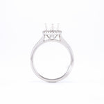 14KT White Gold 0.18CT Round Diamond Semi-Set Engagement Ring