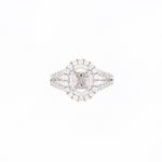 14KT White Gold 0.54CT Round Diamond Semi-Set Engagement Ring