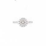 14KT White Gold 0.49CT Round Diamond Semi-Set Engagement Ring