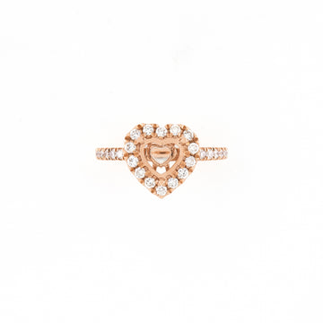 14KT Rose Gold 0.45CT Round Diamond Semi-Set Engagement Ring