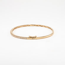 14KT Yellow Gold 0.54CT Round Diamond Bangle Bracelet