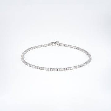 14KT White Gold 1.71CT Round Diamond Tennis Bracelet