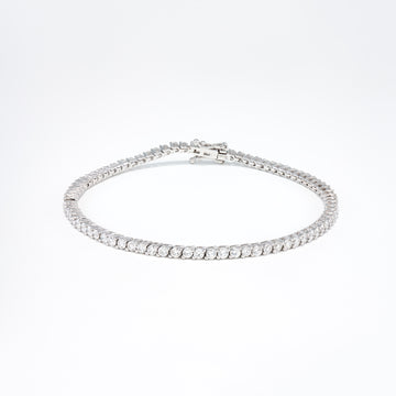 14KT White Gold 2.66CT Round Diamond Tennis Bracelet
