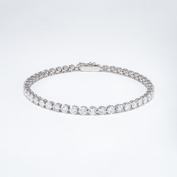 18KT White Gold 8.85CT Round Diamond Tennis Bracelet