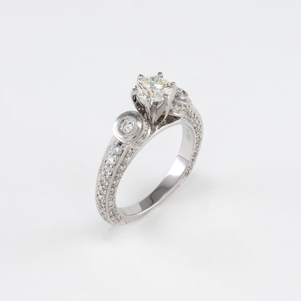 18KT White Gold 1.80CT T/W Diamond Engagement Ring