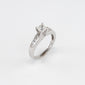 14KT White Gold 1.00CT T/W Diamond Engagement Ring