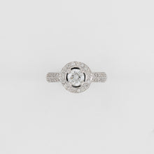 18KT White Gold 1.57CT T/W Diamond Engagement Ring