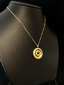 9ct Yellow Gold Large Koru Pendant