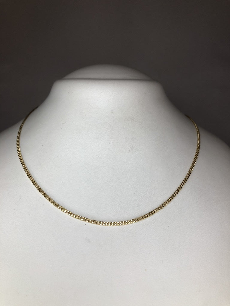 9ct Yellow Gold Diamond Cut Curb Link Chain