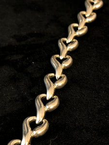 Sterling Silver Fancy Infinity Bracelet