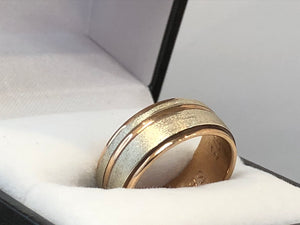 9ct Two-Tone Wedding Ring