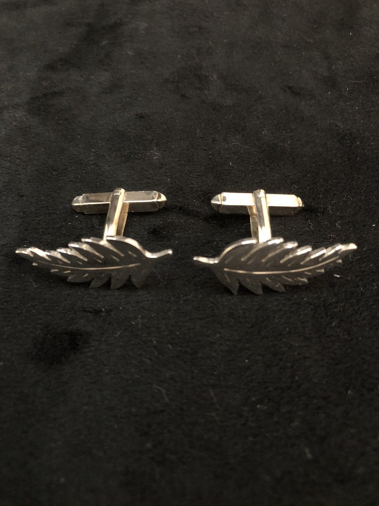 Sterling Silver Fern Cufflinks