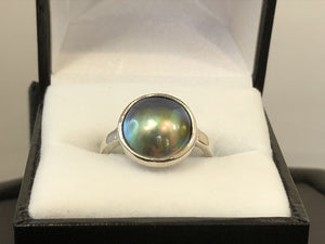 Sterling Silver Paua Pearl Ring