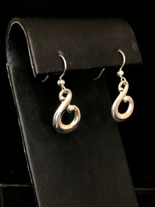 Sterling Silver Fancy Hook Earrings
