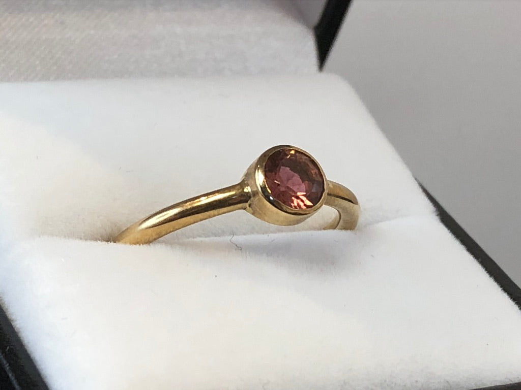 9ct Yellow Gold Pink Tourmaline Ring