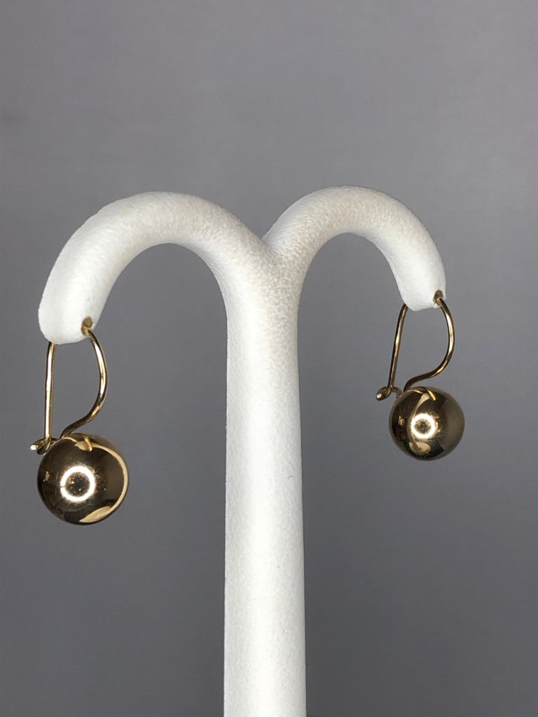9ct Yellow Gold Euroball Earrings