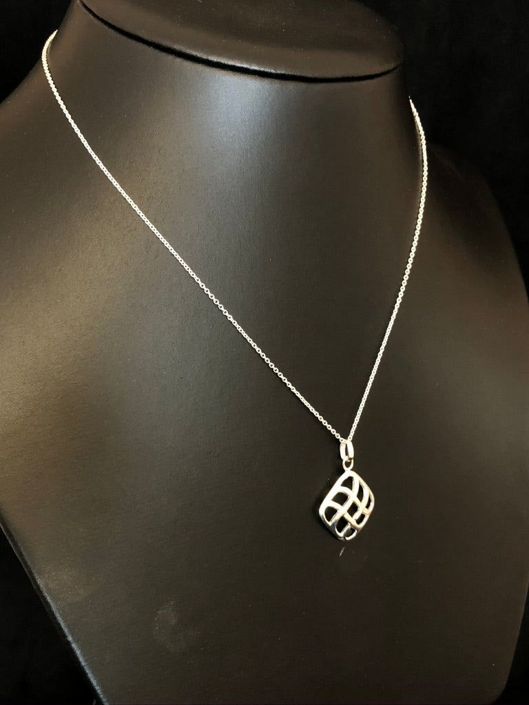 Sterling Silver Soft Weave Pendant