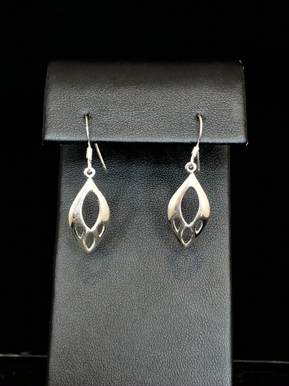 Sterling Silver Marquise Spirit Earrings