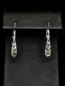 Sterling Silver Koru Tear Earrings